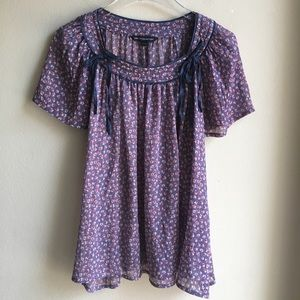 French Connection Floral Flutter Sleeve Blouse 8